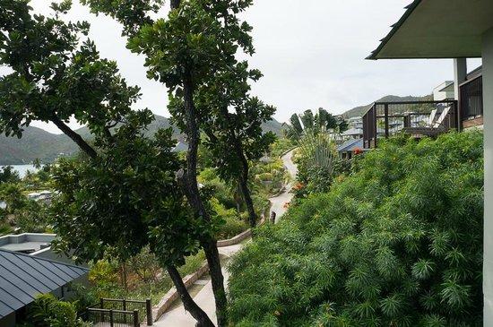 Raffles Seychelles: Отель очень зеленый