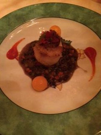 Fleur de Lys: Bacon crusted Sea Scallops