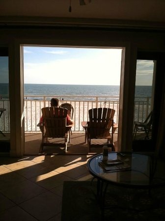 The Neptune Resort : The view from 215 with glass doors both open
