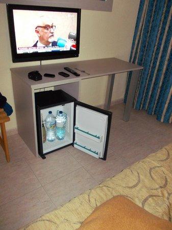 Prince Park Hotel: TV grande y neverita en la habitación