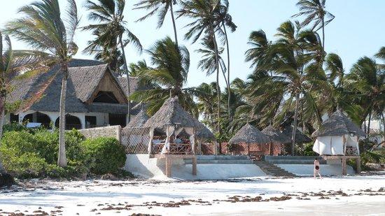 Zanzibar House: Hotel depuis la plage