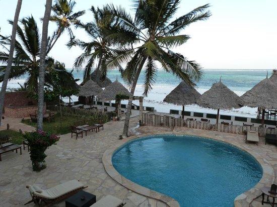 Zanzibar House: Piscine et mer