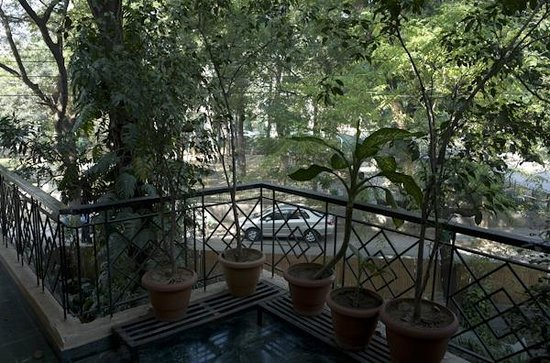 Saubhag Bed and Breakfast: On private terrace looking out onto quiet residential street