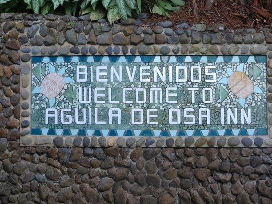 Aguila de Osa : Welcome Sign
