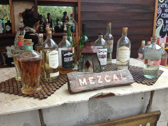 Be Tulum Hotel: Wonderful selection of Mezcal.