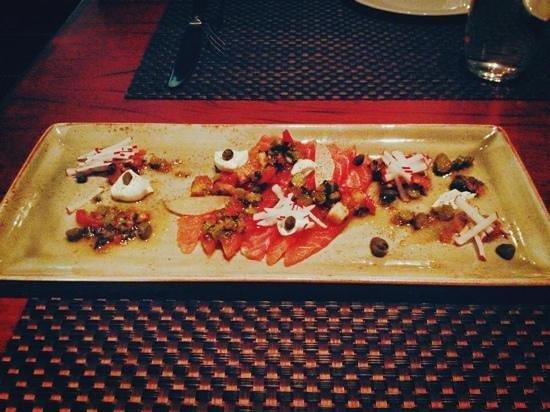Restaurant Decca 77: Super entrée au saumon fumé