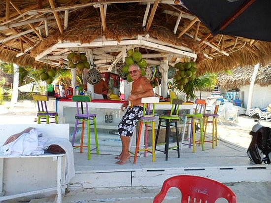 Playa Norte: Bar, loved the colors of the stools