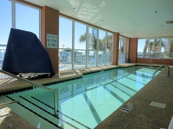 Indoor pool picture of roxanne towers myrtle beach - Indoor swimming pool myrtle beach sc ...