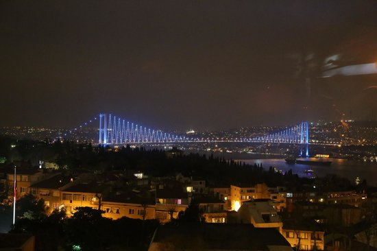 Conrad Istanbul Bosphorus: View from the roof top restaurant on New Years eve.
