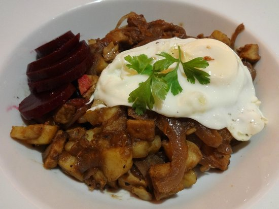 KRO Piccadilly: Biksemad Danish hash for my main course