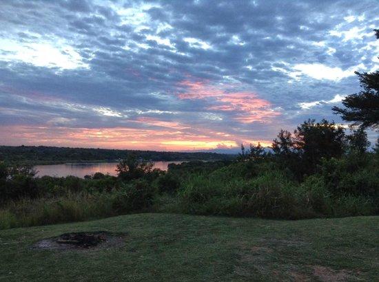 Paraa Safari Lodge: Sunset over the Nile
