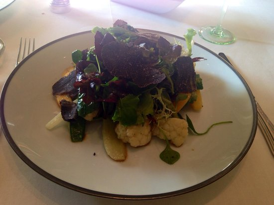 Il Lago at The Four Seasons Hotel: Warm vegetable salad with truffles