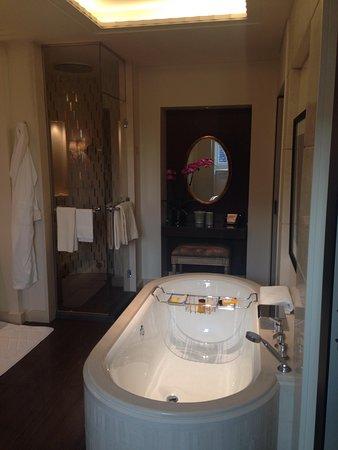 Delightful Four Seasons Hotel Des Bergues Geneva: Room 600, Modern Bathroom With Hamam  Shower