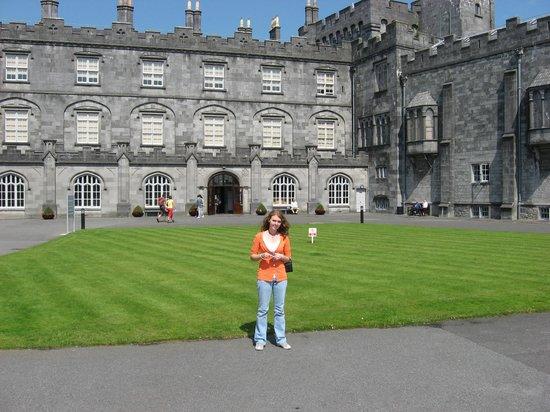Granddaughter Brooke at Butler Castle, Kilkenny one block from Butler Court