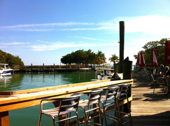 Hog Heaven Sports Bar & Grill : Lovely view from the patio