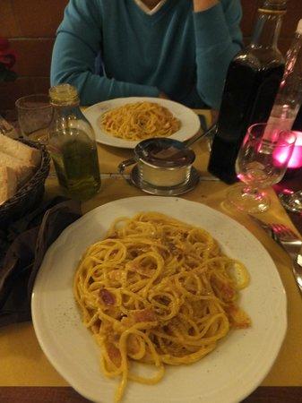 Trattoria da Guido Firenze: spaghetti carbonara