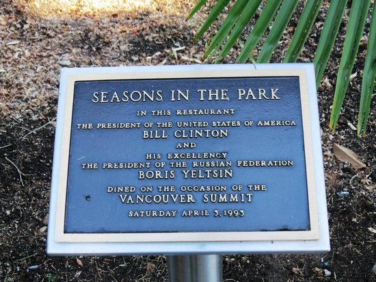 Outdoor plaque, Seasons in the Park, photo by Mike Keenan