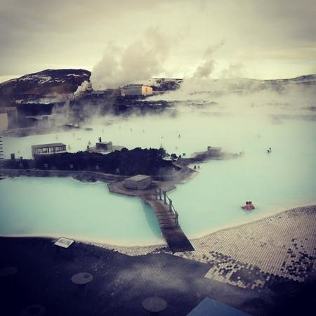 Blue Lagoon Iceland: from the viewing platform (Jan 2014)