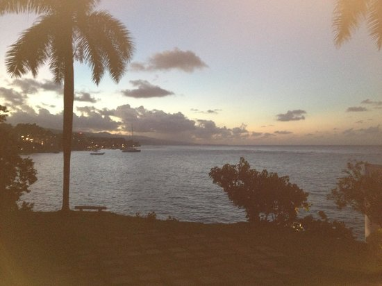 Jamaica Inn : View of Ocho Rios at sunset from the dining area.