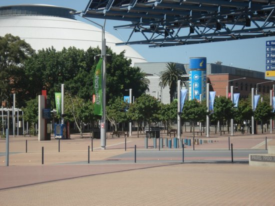 ANZ Stadium: Vista do extenso complexo olímpico