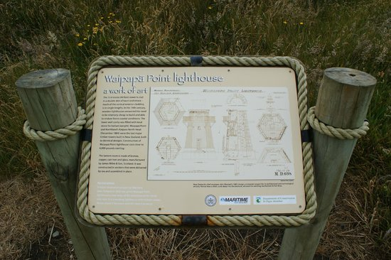 Waipapa Point Lighthouse: Lots of information panels
