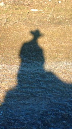 Mayan Dude Ranch: cowboy shadow...