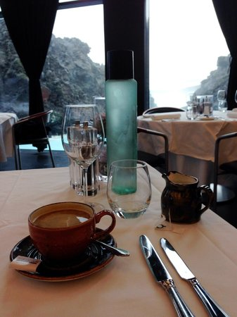 Lava Restaurant : Coffee with a view