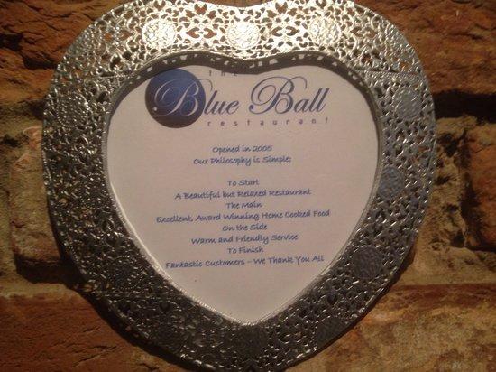 Blue Ball Restaurant : Our simple philosophy