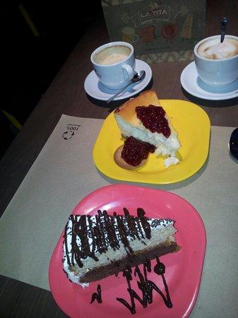 La Tita Rivera: Tarta de queso y tarta de chocolates