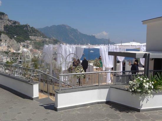 Miramalfi Hotel: Terraça na cobertura do Hotel.