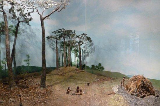 Museo Yámana: Einfachste Diaramen