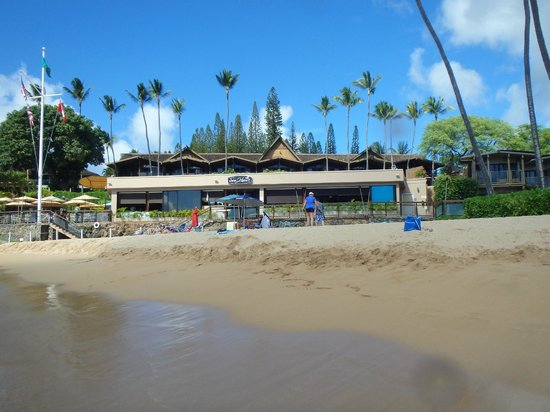Napili Kai Beach Resort: View of restaurant from the water