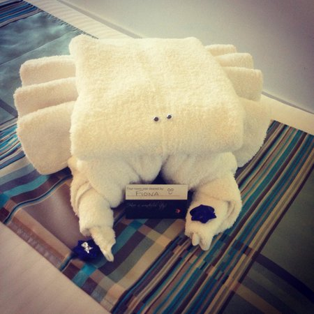 Monaco: Our towel arrangement