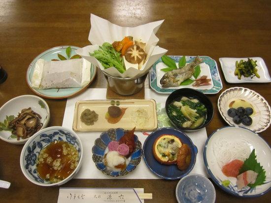 Minshuku Genroku : ある日の夕食