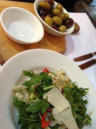 Bella Cucina calamari salad