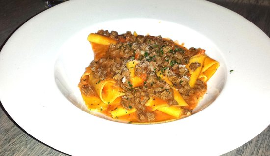 Monty's Restaurant and Bar: Our specials: Papardelle with venison