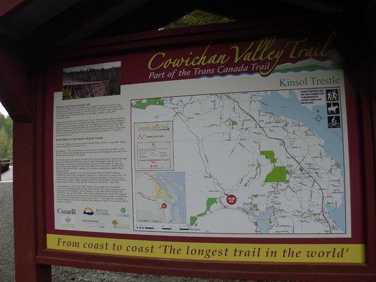 Cowichan Valley trail: plan des environs