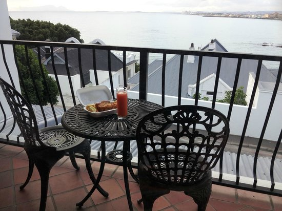 Berg en Zee Guest House : my private balcony with beautiful ocean view