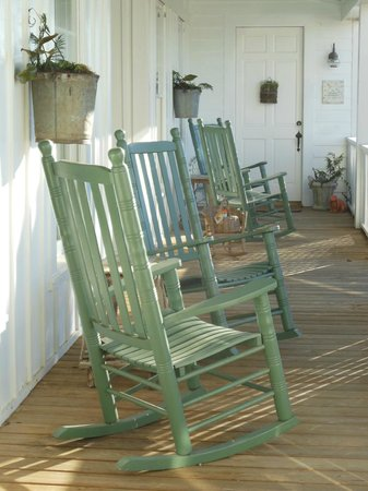 Farmhouse Inn: Rocking chair porch - one of two