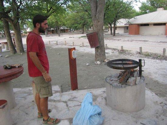 Okaukuejo Resort : Choosing a campsite