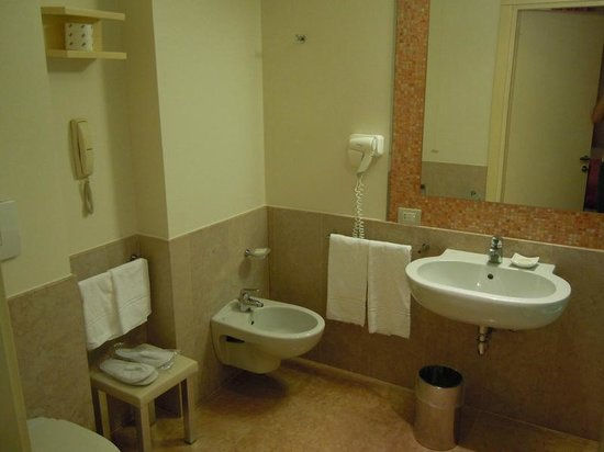 Enterprise Hotel: Bathroom was ok, though I would not call it 'modern'