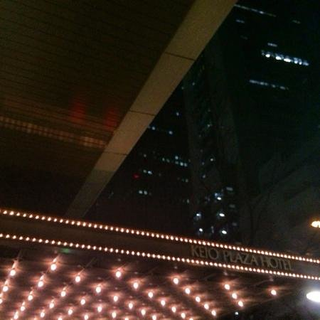 Keio Plaza Hotel Tokyo: Flasy outside