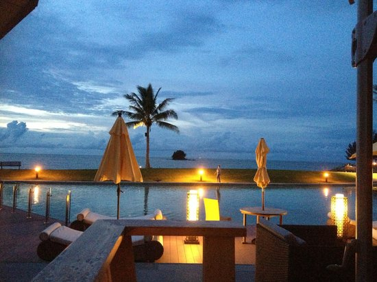 The Empire Hotel & Country Club : View from Pantai restaurant - one of several at the Empire