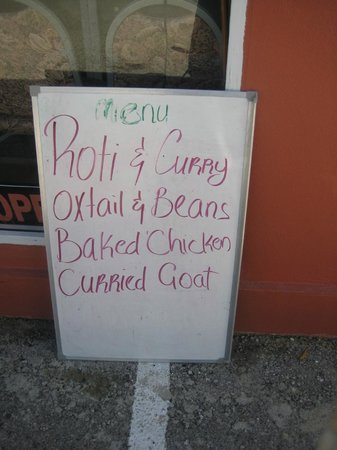 Spot Bay, Cayman Brac: Actual menu is much more extensive