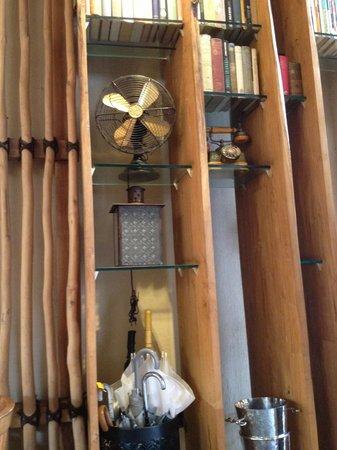 Khaima Restaurant : Books & old appliances on display