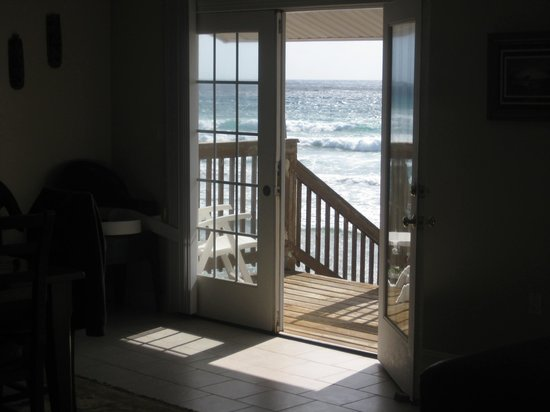 Watching the sea from inside