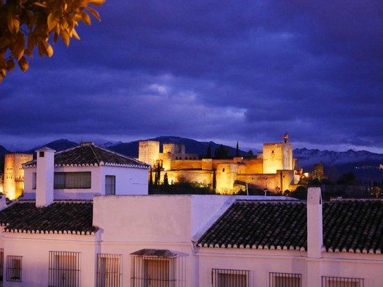 Santa Isabel la Real : ホテル横の広場から見たアルハンブラ宮殿