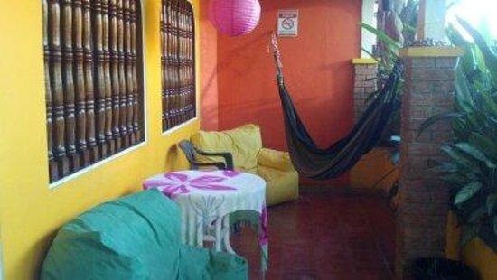 Buddha House Boutique Hostel: Porch off dorm room