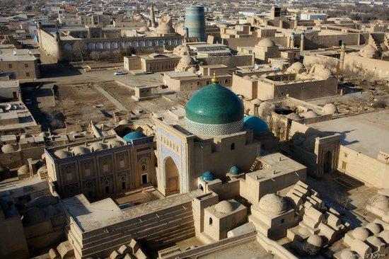 Khiva, Uzbekistan: Вд на город с минарета