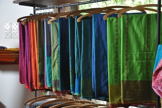 Kurunegala, Sri Lanka: Colorful handloom sarees